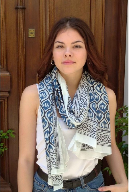 Elegant  100% Cotton Scarf  / Womens cotton Scarf  / Cotton Wrap / Cotton Sarong