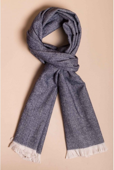 Mens Super Soft  and Warm Woolen  Scarf  With  Fishbone  Pattern
