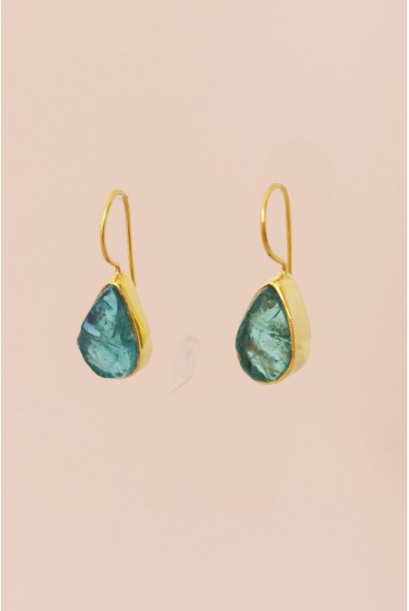Sterling Silver earnings with natural Apatite gemstones