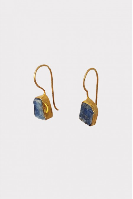 Silver Earnings with natural raw Kyanite
