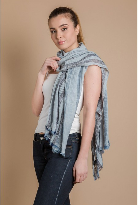 Cotton  Scarf   IN BLUE  COLOR