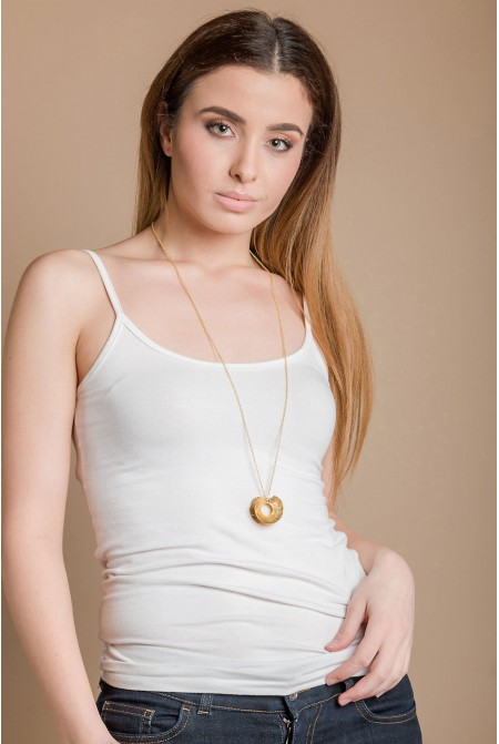 Handmade Gold Vermeil Necklace inspired by the Greek Tradition / Traditional Jewelry / Ancient Greek Jewelry