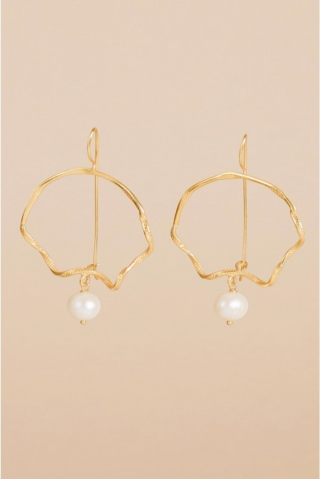 Sterling  Silver earrings  with a pearl