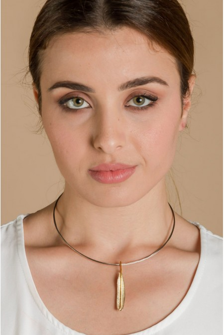 Handmade 925 sterling  silver necklace with a pendal if an  olive leaf / Olive Leaf Necklace