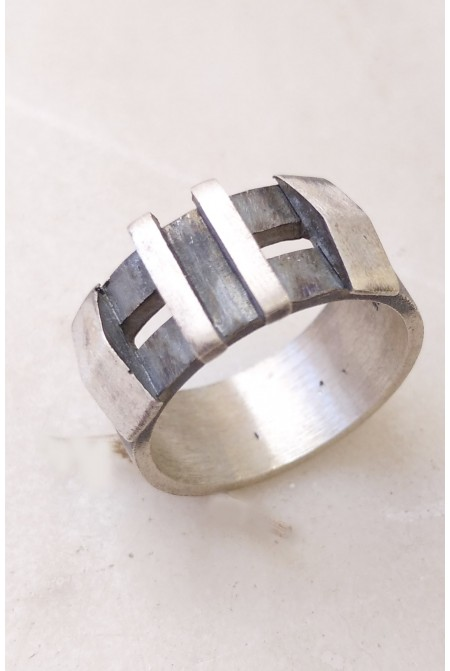 Silver Mens Ring   / Mens ring / Mens Sterling silver ring / Handmade Ring / Gift for him