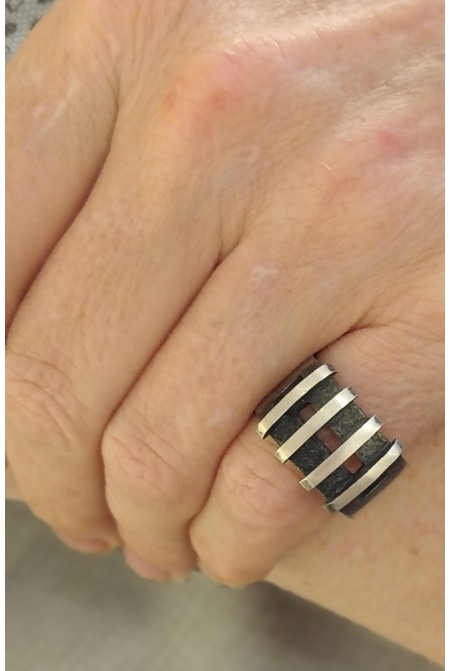 Silver Mens Ring Modern Style / Mens ring / Mens Sterling silver ring / Handmade Ring / Gift for him
