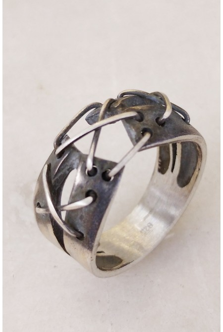 Contemporary Silver Mens Ring   / Mens ring / Mens Sterling silver ring / Handmade Ring / Gift for him