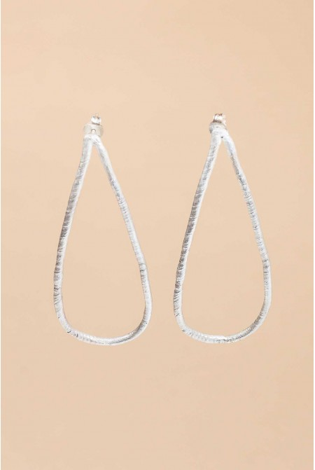 Contemporary handmade earrings Silver 950  / Hoops earrings Silver Earrings