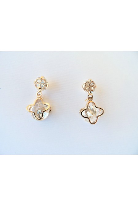 Wonderful Modern Earrings with Shiny Crystals / Elegant Earrings / Small Earrings /