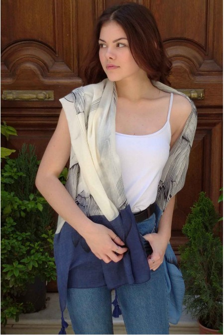Elegant  Scarf  / Womens cotton Scarf  / Cotton Wrap / Cotton Sarong