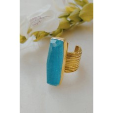 Contemporary silver ring   with a beautiful Turquoise