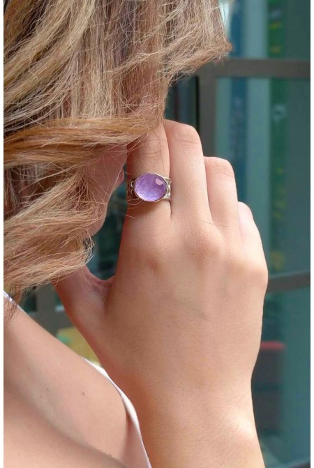 Beautiful Amethyst silver ring /   Amethyst Ring /  Anniversary ring / Gift for her   / Sterling Silver ring