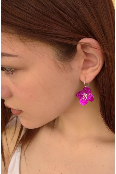 Astonishing Flower earrings / Violet  earrings