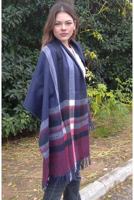 Elegant Super Soft  and Warm 100% Woolen  Scarf  with Geometrical  Pattern