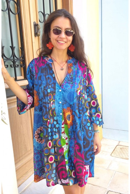Boho style Kaftan   - One size perfect up to XL