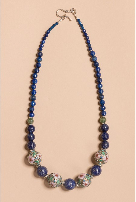 Beautiful Lapis Lazuli  Necklace./ Sterling Silver Necklace / Anniversary Gift / Gift for her