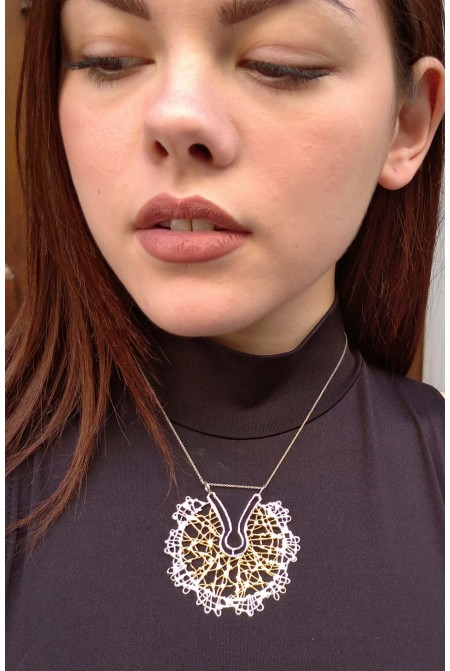 Contemporary steling  silver necklace