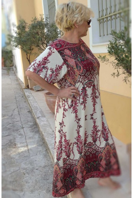 Boho style dress   - One size perfect up to  XL