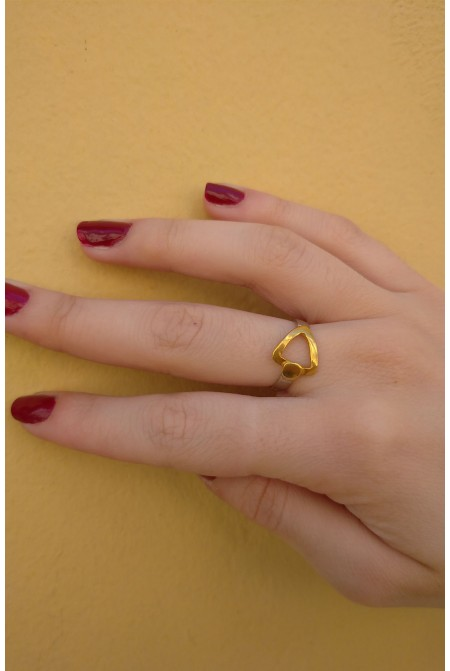 Elegant  Sterling silver  Ring with geometrical symbol of power  /